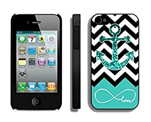 diy zhengApple iphone 5c/s Case Durable Soft Silicone TPU Designer Infinite Love Teal Glitter Anchor Black Cell Phone Case Cover for iphone 5c/