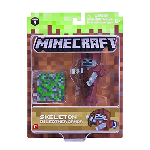 Minecraft Skeleton in Leather Armor Figure Pack