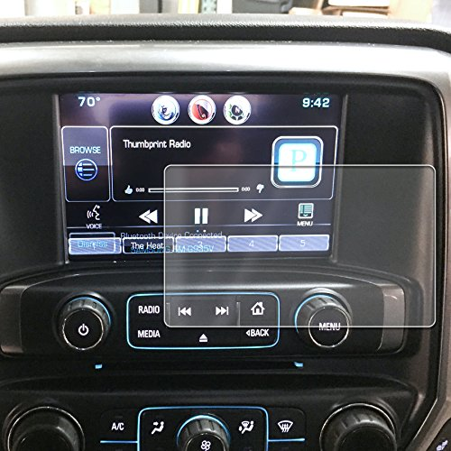 Peel Radio Card - Red Hound Auto 2014-2018 Compatible with Chevy/GMC Silverado/Sierra MyLink Screen Saver 1pc Custom Fit Invisible High Clarity Touch Display Protector Minimizes Fingerprinting 8 Inch