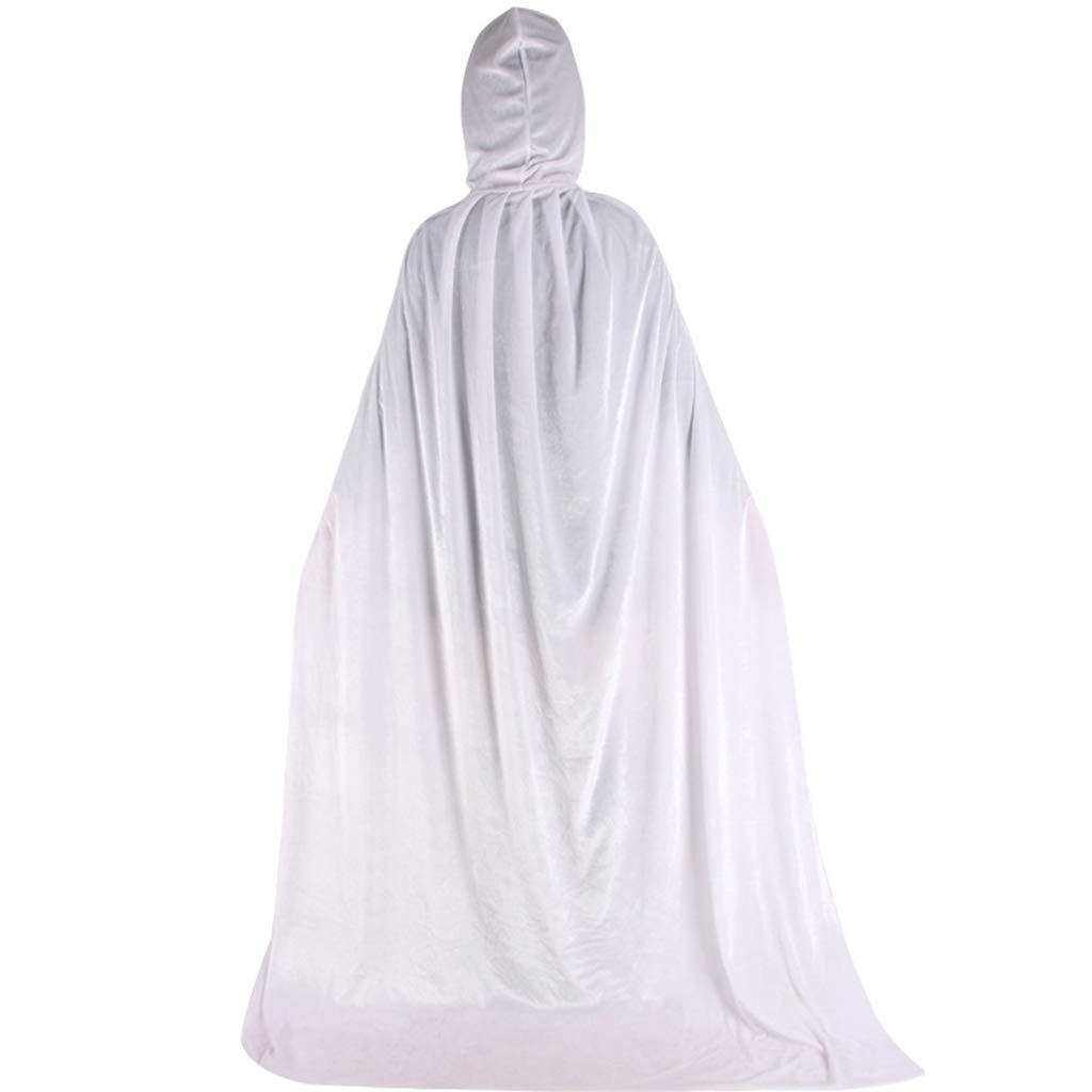 ZJfloral Capa larga con capucha de terciopelo para Halloween disfraces regalo granate disfraz de vampiro para adultos disfraces de Halloween Navidad