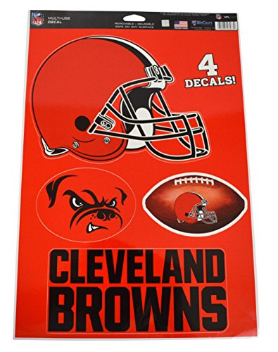 Official National Football League Fan Shop Licensed NFL Shop Multi-use Decals (Cleveland Browns)