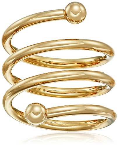 14k Gold-Bonded Sterling Silver Adjustable Spiral Ring, Size 5-7 Dipped Ring