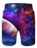 #7: Loveternal Casual Mens Swim Trunks Quick Dry Printed Beach Shorts Summer Boardshorts with Mesh Lining