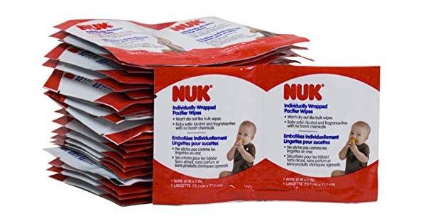 Amazon.com: NUK toallitas de chupete envueltas ...
