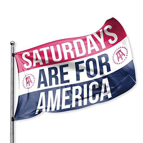 College Flag - Saturdays are for America Flag, Barstool Sports, Perfect for Tailgating College Fraternities Weekend Sports