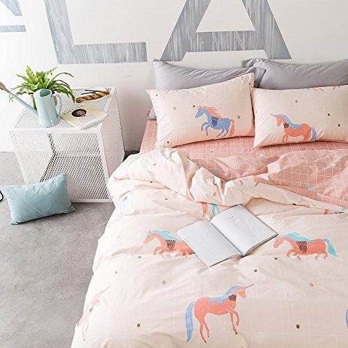 Oroa Soft Cute Cartoon Animal Unicorn Bedding Duvet Cover