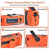 Jomst 4000mAh Emergency Radio,Hand Crank Portable
