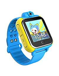 Kids Watch Phone 3G Smart Watch SOS GPS Tracker Q730 with 2.0MP Camera for iPhone and Android Phone (Blue)