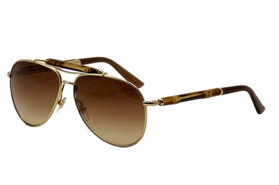 b8d32b21c4 Gucci Women s 4240 Bamboo Gold   Bamboo Frame Brown