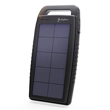 BigBlue 15000mAh Cargador Portátil a Energía Batería Solar, 2 Puertos USB Batería Externa Impermeable y Anti Shock 6 Luces LED de Emergencia - Carga ...