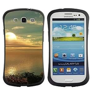 "Hypernova Slim Fit Dual Barniz Protector Caso Case Funda Para SAMSUNG Galaxy S3 III / i9300 / i747 [Naturaleza Hermosa Forrest Verde 182""]"