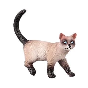 Vivianu - Juego de 10 figuras de acción realistas, diseño de gato, para decoración de pasteles, accesorios para niños y niñas 8: Amazon.es: Hogar