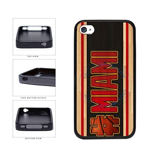 ball Team Hashtag Miami #Miami TPU RUBBER SILICONE Phone Case Back Cover For Apple iPhone 4 4s ()