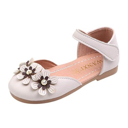 c87ef0af871 Zapatos Baile para niñas pequeñas 🎀 Flores de Bailarina Sandalias pequeñas  - Zapatos de Princesa -