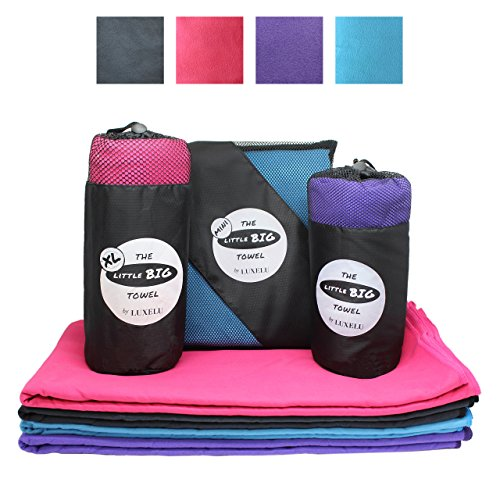 XL Premium Extra Large Microfiber Sports Towel / Travel Towel - Fast Drying LITTLE BIG Towel by Luxelu - 71