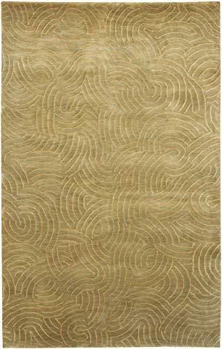 Surya Julie Cohn Shibui SH-7411 Hand Knotted 100-Percent Semi-Worsted New Zealand Wool Area Rug, Multi-Color, 5-Feet by - Shibui Hand Rug Knotted