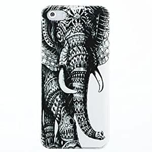 GJY Left Elephant Pattern Hard Case Cover for iPhone 5/5S
