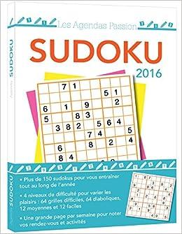 agenda passion Sudoku 2016: 9782351557310: Amazon.com: Books