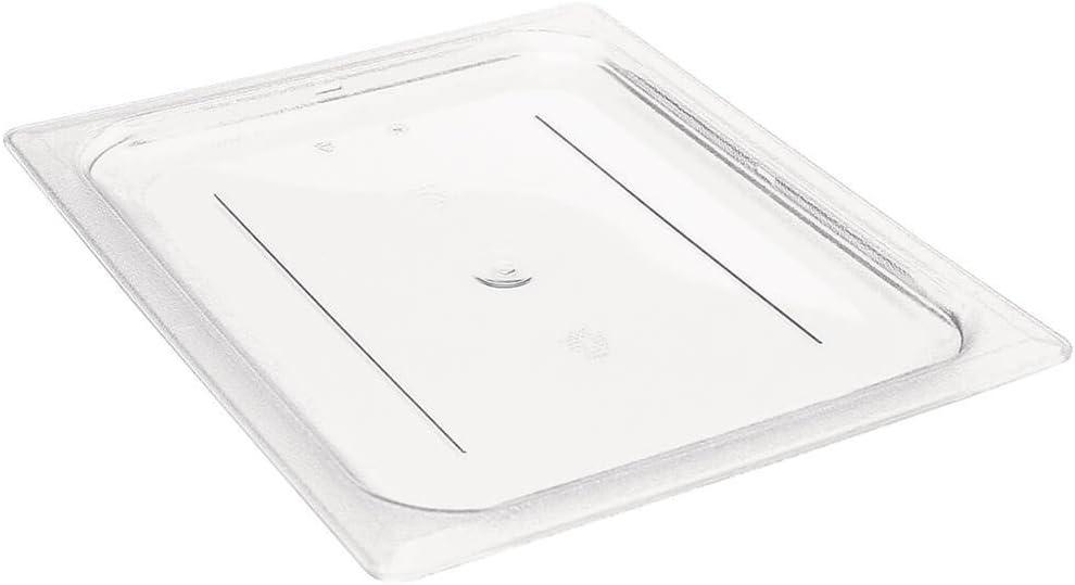 Camwear Food Pan Cover, 1/6 Size, Plain, Polycarbonate, Nsf (6 Pieces/Unit)