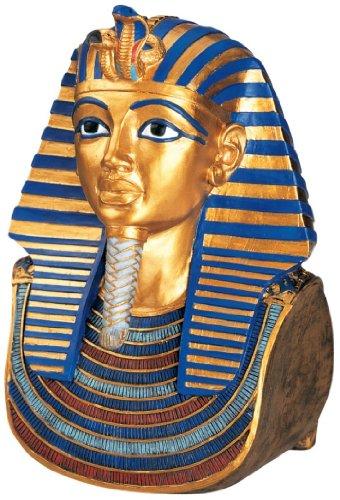 Ancient Egyptian Statue King Tut Golden Mask Sculpture Bust