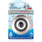 Kitchen SinkShroom Revolutionary Clog-Free Stainless Steel Sink Strainer, Black