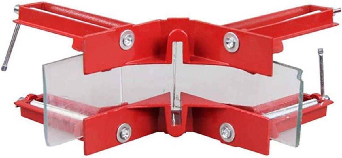 Rouge et Argent Dailyinshop Multifonction 90 degr/és Angle Droit Clip Cadre dimage Coin Pince Fishtank Bricolage Coin Titulaire Rapide Fixe Outil de Travail du Bois