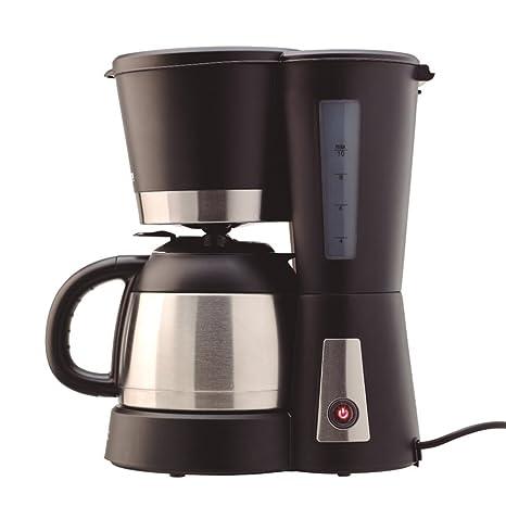 Solac 238588 CF4025 Stillo Termo-Cafetera Goteo con Jarra térmica (Capacidad de 1 L), Color Negro, 800 W, 1 Liter, Acero Inoxidable