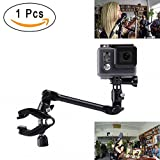 Mekingstudio 360 Degree Jam Clamp Adjustable Music Mount Accessory Guitar Drum Keyboards Holder Support for Gopro Hero 6 5 4 3 SJCAM and Smartphones (Music Stand Mount)