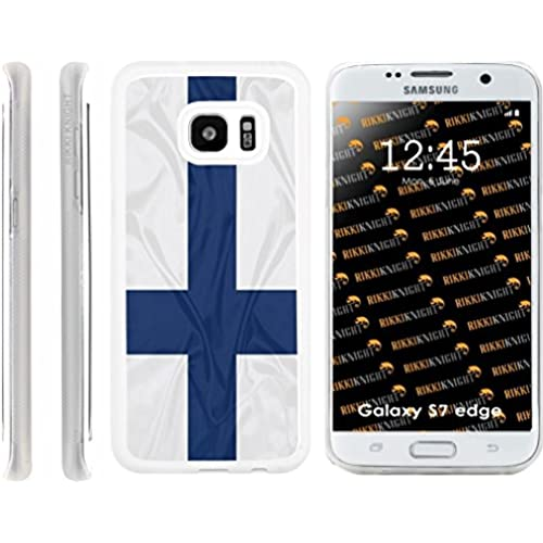 Rikki Knight Finland Flag Design Samsung Galaxy S7 Edge Case Cover (Clear Rubber with front Bumper Protection) Sales