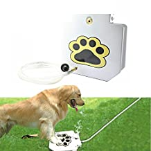"""MATOP Dog Pet Water Fountain API Doggie Fountain Step-On Outdoor Training Tool with 40"""" Hose"""