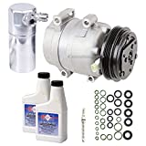 New AC Compressor & Clutch With Complete A/C Repair Kit For Chevy Corvette C5 - BuyAutoParts 60-81237RK New