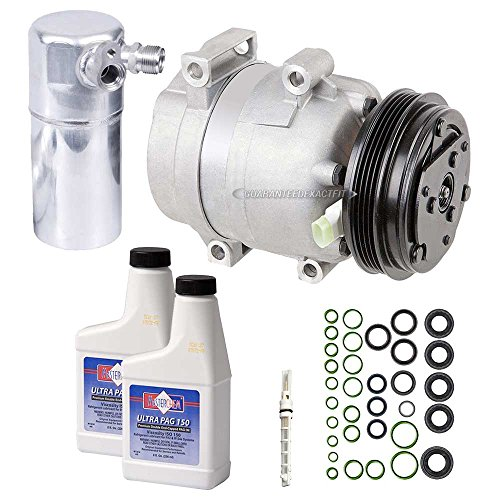 Corvette Conditioner Air (New AC Compressor & Clutch With Complete A/C Repair Kit For Chevy Corvette C5 - BuyAutoParts 60-81237RK New)