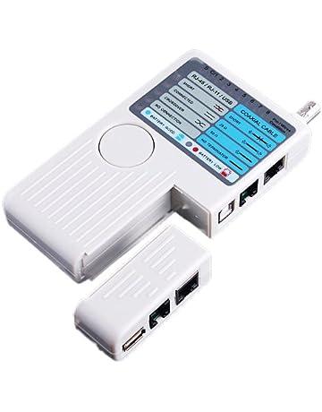Probador medidor remoto de cables de red de telefono, 4 en 1, RJ11,