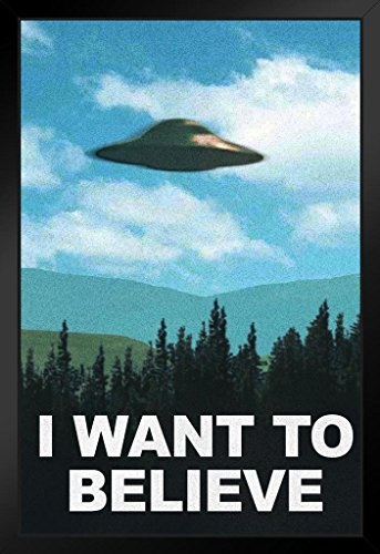 I Want to Believe TV Show Framed Poster 14x20 inch