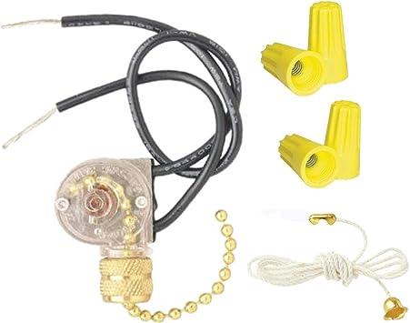 ZE-109 Zing - Interruptor de luz para ventilador de oreja (con cadena de tracción para ventilador de techo, lámparas y luces de pared): Amazon.es: Bricolaje y herramientas