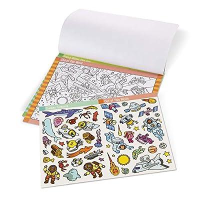 Melissa & Doug Seek & Find Sticker Pad - Adventure (400+ Stickers, 14 Scenes to Color), Multicolor: Toys & Games