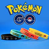 Pokemon Wristbands 12-Pack, Party Favors Kids Silicone Bracelets (Toy)