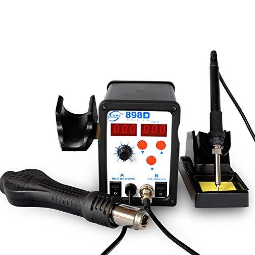YAOGONG Rework Soldering Station kit 898D SMD Digital 2 in 1 Hot Air Soldering Iron