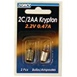 Dorcy 2C/2AA-2.2-Volt, 0.47A Bayonet Base Krypton Replacement Bulb, 2-Pack (41-1662)