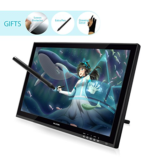 Huion GT-190 Pen Display Graphics Drawing Tablet Monitor with Screen, Wide Viewing Angle - 19 Inch