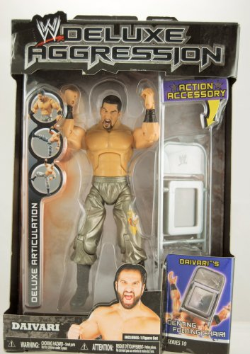 WWE Wrestling DELUXE Aggression Series 10 Action Figure Daivari with Denting Chair