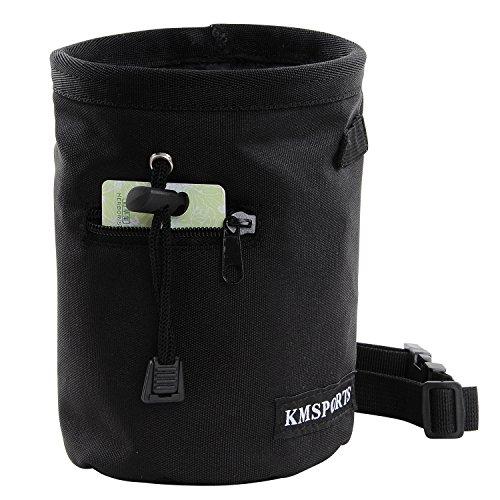 Waist Bag Polyester Closure Belt Black for Men Women - 1