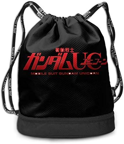 ナップサック機動戦士ガンダム (1) メンズ レディース 兼用 アウトドア ジムサック バッグ 軽量 スポーツ 収納バッグ 登山 自転車 防水仕様 バッグ 巾着袋 通学・通勤・運動 ・旅行に最適 アウトドア 収納バッグ