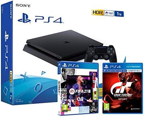 PS4 Slim 1Tb Negra Playstation 4 Consola +