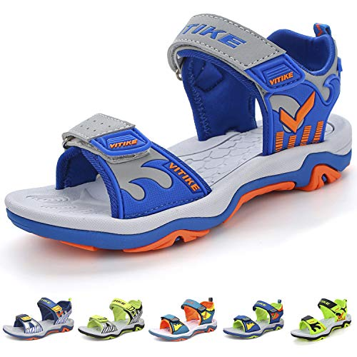 (Elaphurus Kids Sports Sandals Summer Outdoor Open Toe Beach Sandals Water Shoes for Boys Girls)