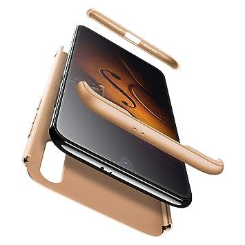 AChris XiaoMi Mi 9 SE Carcasa 360° Ultra Fina Protectora cojín con Vidrio Templado Pantalla Protector, 3 in 1 Hard Caja Caso Skin Case Cover Carcasa ...