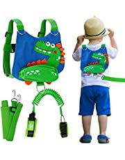 Lehoo Castle Toddler Leash for Walking, 4-in-1 Child Safety Harness Leash, Baby Harness with Safety Locks for Kids, Backpack Leash for Boys(Dinosaur)