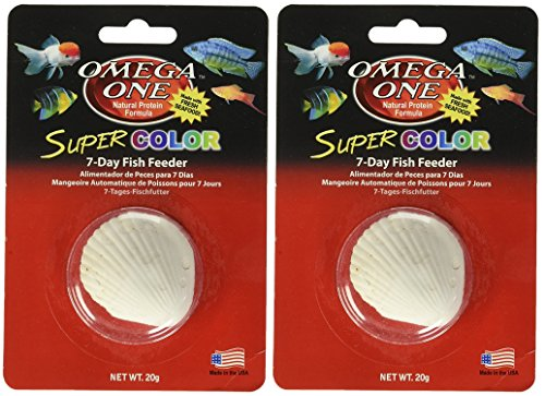 Omega One Super Color 7-Day Vacation Fish Feeders (2 Feeders)