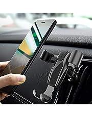 DIVI Supporto Auto Smartphone, 360 ° di Rotazione Porta Cellulare Universale da Auto Telefono Supporto gravità [Bocchetta dell'Aria] per Phone x, 8, 7, Galaxy Note 8, S8, S7, A7, A5, LG by (Nero)