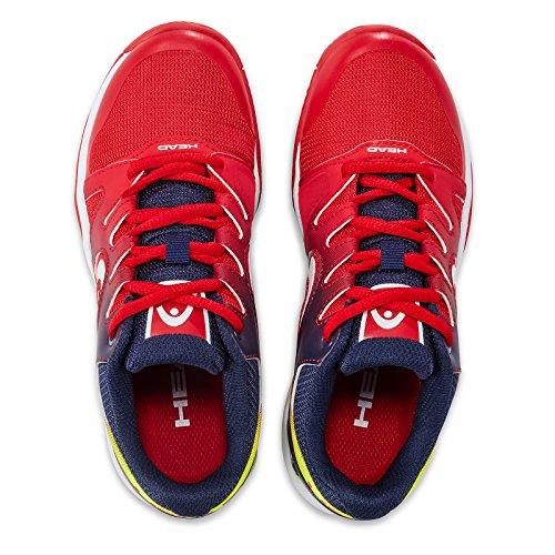 Head Sprint Junior 2.0, Zapatillas de Tenis Unisex Niños Rojo (Red/black Iris)